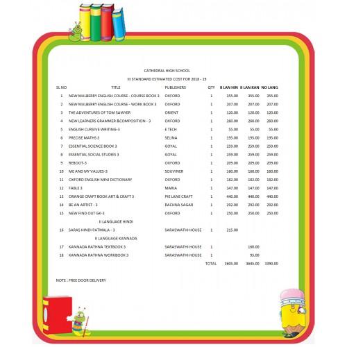 III STD CATHEDRAL HIGH SCHOOL FULL SET 2018 - 19