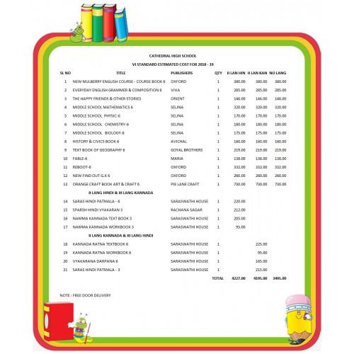 VI STD CATHEDRAL HIGH SCHOOL FULL SET 2018 - 19